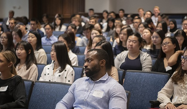 New Graduate Students Attend Legal Launch Week Orientation.